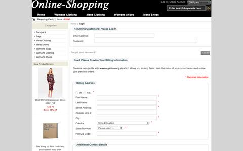Screenshot of Login Page argentus.org.uk - Login : Men's Sports Shoes,Women's Sports Shoes - Online Mall,Discount Sale - captured Oct. 4, 2018