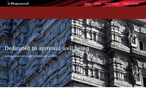 Screenshot of Home Page bhajanawali.com - Bhajanawali – Bhajanawali - captured Nov. 22, 2016