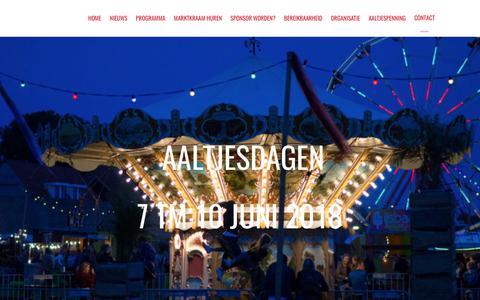 Screenshot of Contact Page aaltjesdagen.nl - Contactformulier - Aaltjesdagen - captured Oct. 25, 2017