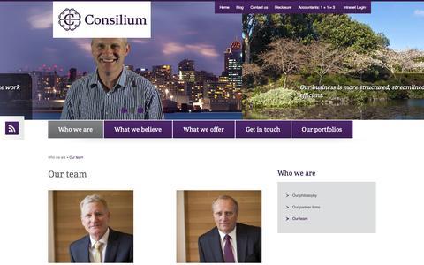 Screenshot of Team Page consiliumnz.co.nz - Our team » Consilium NZ Ltd - captured Nov. 5, 2014