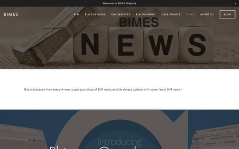 Screenshot of Press Page bimes.com - News — BIMES - captured March 5, 2016