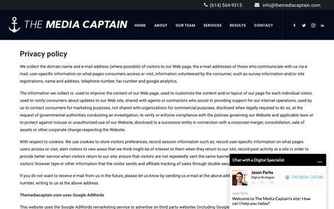 Privacy Policy - Fastest Growing Columbus Digital Marketing Agency [Media Captain]