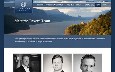 Screenshot of Team Page reverecapital.com - revere team - Revere Capital - captured July 14, 2018