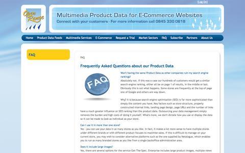 Screenshot of FAQ Page open-range.com - FAQ - captured Oct. 9, 2014