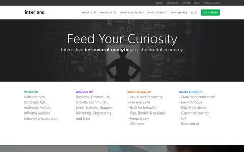 Behavioral Analytics for the Digital Economy | Interana