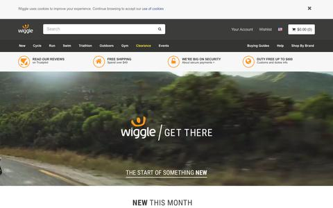 Screenshot of Home Page wiggle.co.uk - Wiggle | Cycle | Run | Swim | Tri-Sports & Bike Shop - captured March 26, 2018