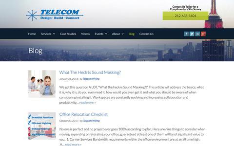 Screenshot of Blog telecom-wiring.com - Our Blog   Telecom Infrastructure Corp - captured Feb. 8, 2018