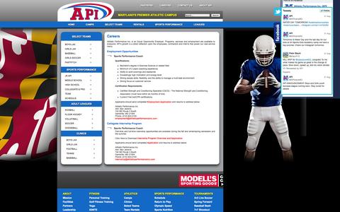 Screenshot of Jobs Page athleticperformanceinc.com - Careers at API - captured Oct. 4, 2014