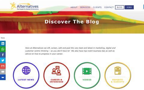 Screenshot of Blog alternatives.ie - Blog - Digital Recruitment - captured July 25, 2016