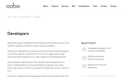 Screenshot of Developers Page oobe.co.uk - Developers - Oobe - captured Nov. 1, 2017