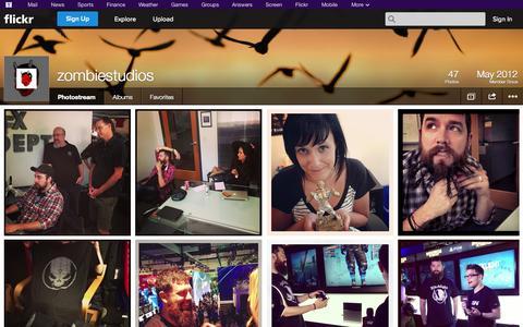 Screenshot of Flickr Page flickr.com - Flickr: zombiestudios' Photostream - captured Oct. 26, 2014