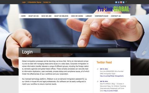 Screenshot of Login Page pro-linkglobal.com - Login | Pro-Link GLOBAL - captured Sept. 30, 2014