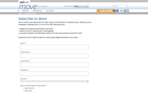 Subscribe to the Move newsletter