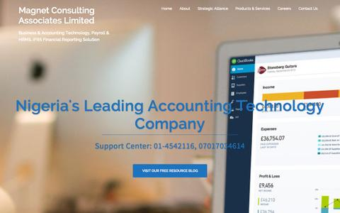 Screenshot of Home Page magnetgroupng.com - QuickBooks, Payroll & FInancial Reporting Software - captured Sept. 17, 2015