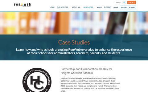 Screenshot of Case Studies Page renweb.com - Case Studies - RenWeb - captured June 13, 2017
