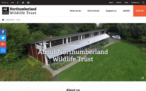 Screenshot of About Page nwt.org.uk - About | Northumberland Wildlife Trust - captured Oct. 18, 2018