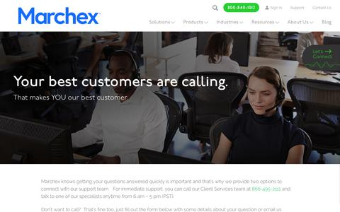 Screenshot of Support Page marchex.com - Contact Support - Marchex - captured May 29, 2018
