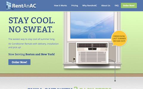 Screenshot of Pricing Page rentanac.com - RentAnAC: Air Conditioner Rentals in Boston and New York City - captured Dec. 16, 2016