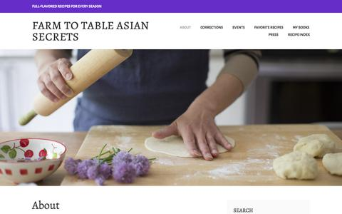 Screenshot of About Page wordpress.com - About – Farm to Table Asian Secrets - captured July 3, 2017