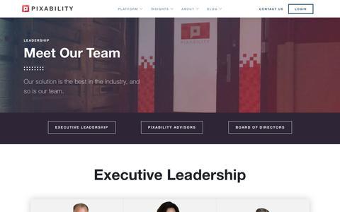 Screenshot of Team Page pixability.com - Team - Pixability - captured Nov. 22, 2018