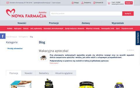 Screenshot of Blog nowafarmacja.pl - Blog - Apteka Nowa Farmacja - captured Oct. 30, 2014