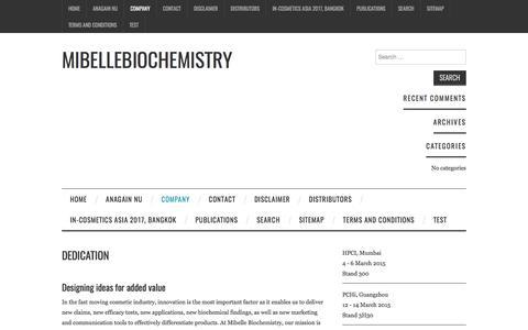 Dedication – Mibellebiochemistry
