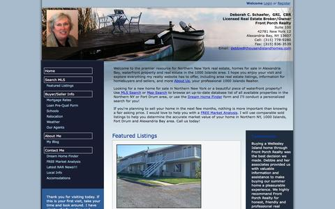 Screenshot of Maps & Directions Page thousandislandhomes.com - Front Porch Realty: Northern NY Homes for Sale & 1000 Islands Real Estate - captured Feb. 10, 2016