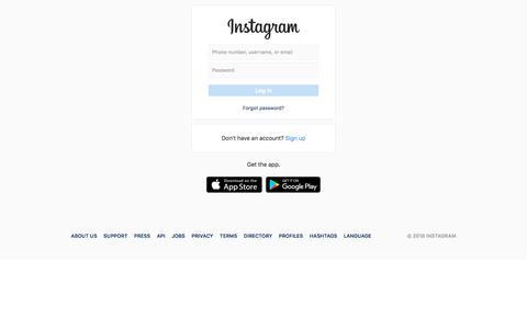Screenshot of Signup Page instagram.com - Login • Instagram - captured Sept. 19, 2018