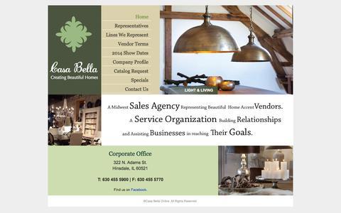 Screenshot of Home Page casabellaonline.com - | Casabella Online - captured Oct. 2, 2014