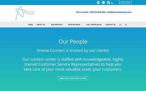 Screenshot of Team Page aremaconnect.com - Arema Connect - About Us, Contact Centre - captured Oct. 22, 2018