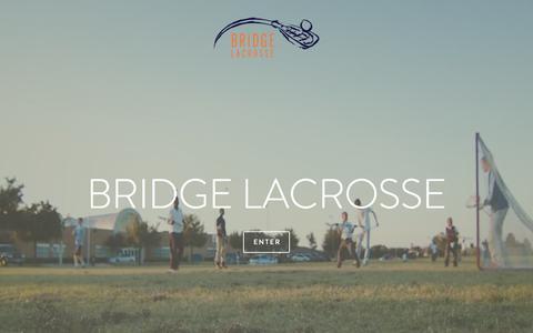 Screenshot of Home Page bridgelacrossedallas.org - BRIDGE LACROSSE - captured Sept. 10, 2015