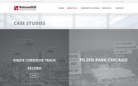 Screenshot of Case Studies Page nelsonhill.com - Case Studies - NelsonHill - captured Sept. 20, 2018