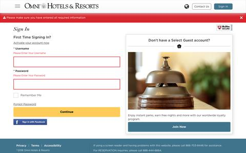 Select Guest Sign-In | Omni Hotels & Resorts