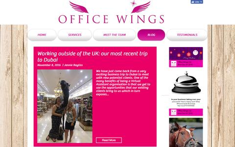 Screenshot of Blog officewings.co.uk - Virtual PA | BLOG - captured Dec. 18, 2016