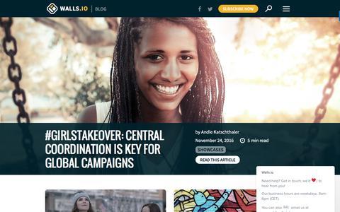Screenshot of Blog walls.io - Your Hashtags Unleashed |Walls.io Blog - captured Dec. 4, 2016