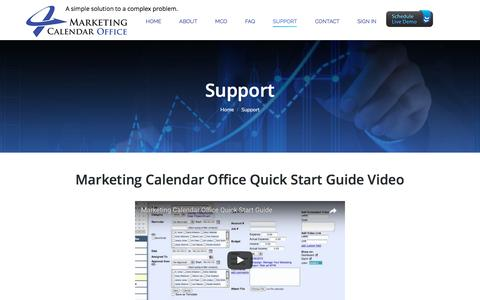Screenshot of Support Page marketingcalendaroffice.com - Support – Marketing Calendar Office - captured May 26, 2017