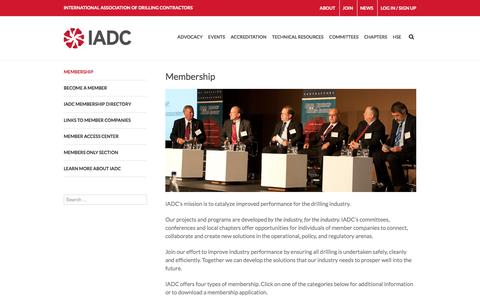 Screenshot of Signup Page iadc.org - Membership - IADC - International Association of Drilling Contractors - captured Nov. 26, 2016