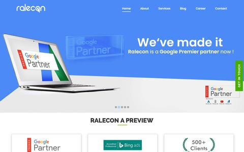 Screenshot of Home Page ralecon.com - Leading Digital Marketing Company in Bangalore, India | Ralecon - captured Feb. 16, 2019