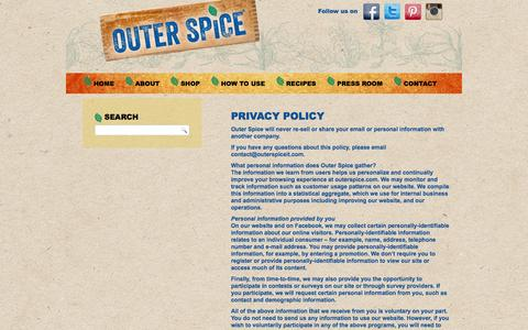 Screenshot of Privacy Page outerspiceit.com - Privacy Policy - Outer Spice - captured Feb. 7, 2016