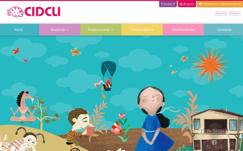Screenshot of Home Page cidcli.com - Editorial CIDCLI - Inicio - captured Feb. 22, 2018
