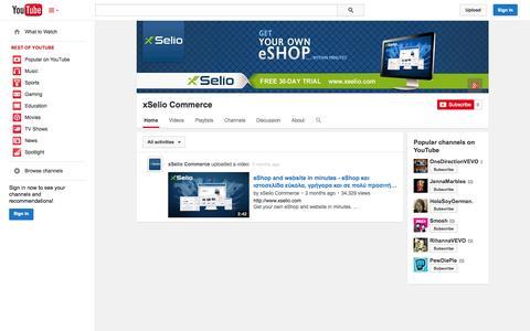 Screenshot of YouTube Page youtube.com - xSelio Commerce  - YouTube - captured Oct. 26, 2014