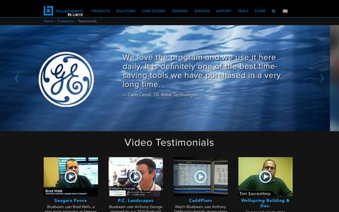 Screenshot of Testimonials Page bluebeam.com - Bluebeam | Testimonials - captured Oct. 2, 2015