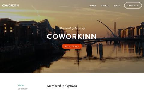 Screenshot of Pricing Page coworkinn.com - Pricing Ń Coworkinn - captured Nov. 14, 2015