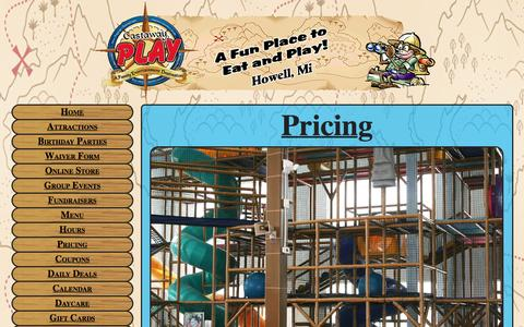 Screenshot of Pricing Page castawayplay.com - Attraction Prices - captured Jan. 26, 2016