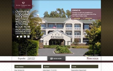 Screenshot of Contact Page riverterraceinn.com - Hotels Napa Valley | Napa Hotels | River Terrace Inn - captured Oct. 26, 2014