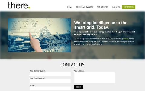 Screenshot of Contact Page therecorporation.com - We bring intelligence to the smart grid. Today | There Corporation - captured July 4, 2016