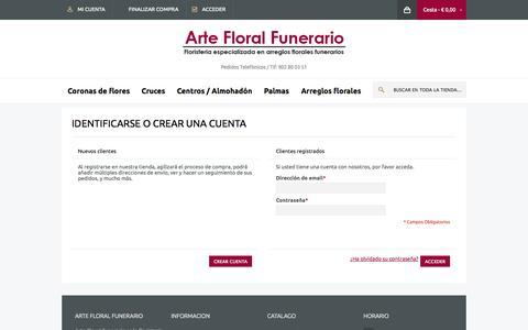 Screenshot of Login Page artefloralfunerario.com - Acceso del cliente - captured Oct. 4, 2014