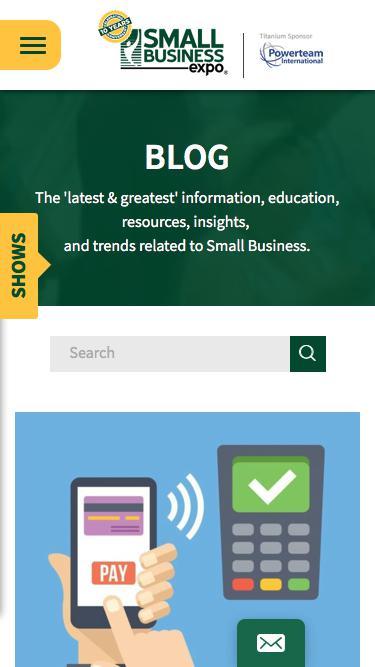 Screenshot of Blog  thesmallbusinessexpo.com - Small Business Expo Blog - Business Tips | Small Business Expo
