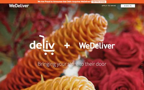 Screenshot of Home Page wedeliver.us - WeDeliver offers Same-Day Delivery services to your   customers On-Demand - captured July 3, 2015