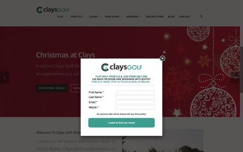 Screenshot of Home Page claysgolf.co.uk - Clays Golf Course Wrexham | Driving Range & American Golf Store - captured Dec. 9, 2015